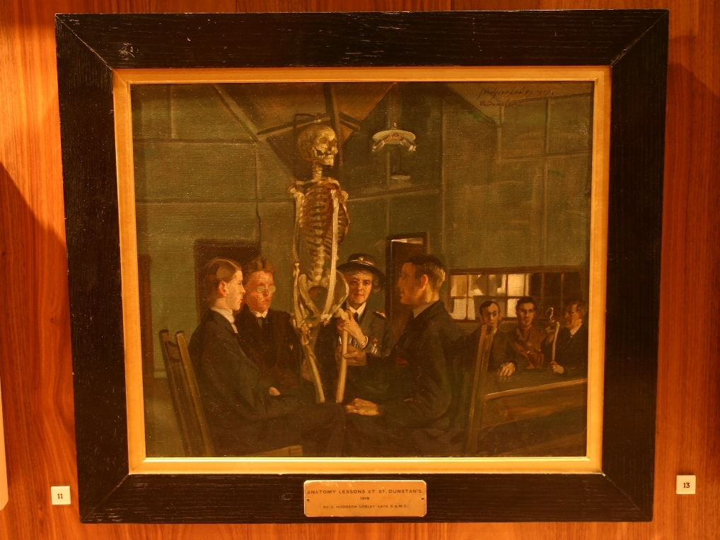 Anatomy Lessons At St Dunstans By Hodgson Lobley 1919 Himetop