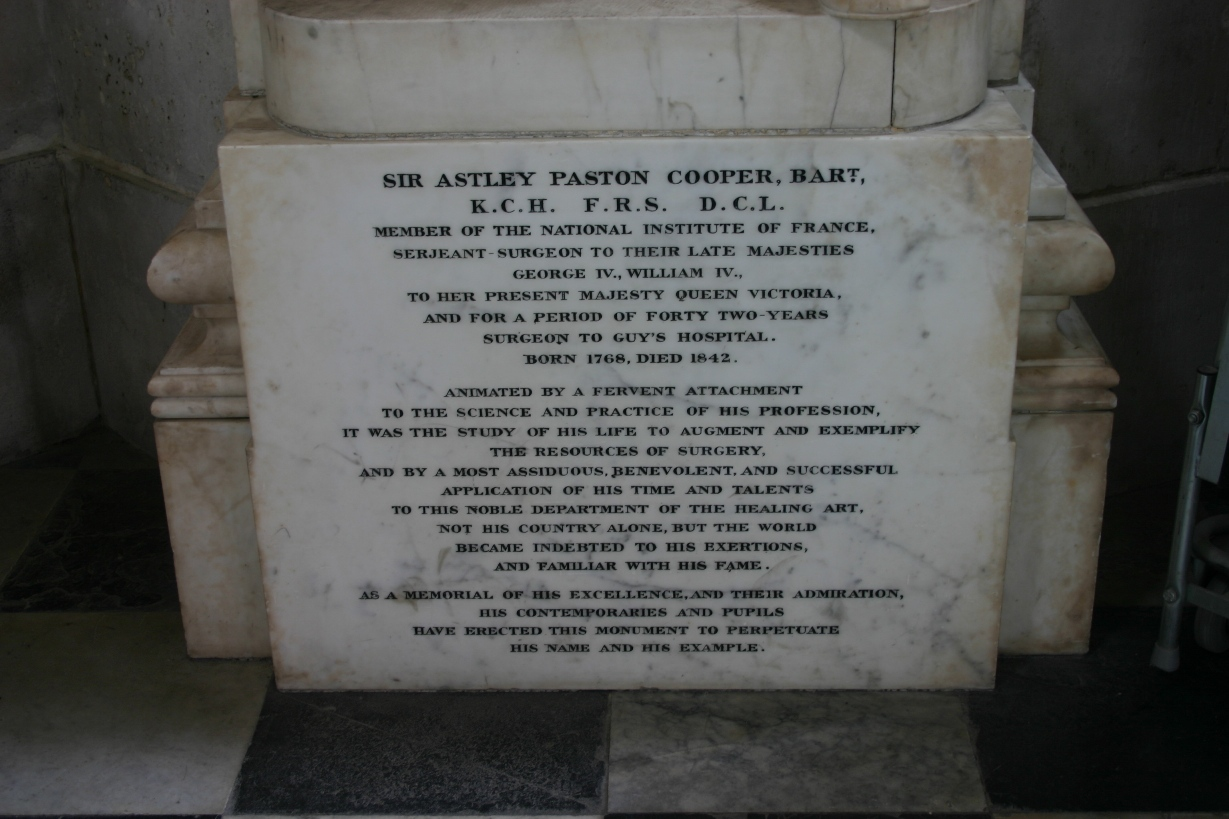 Astley Paston Cooper monument - Himetop