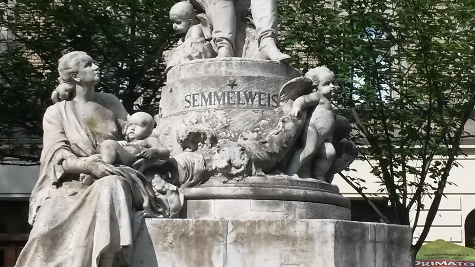 Image result for f Ignaz Semmelweis was sculpted in 1906 by Hungarian sculptor Alojs Stróbl