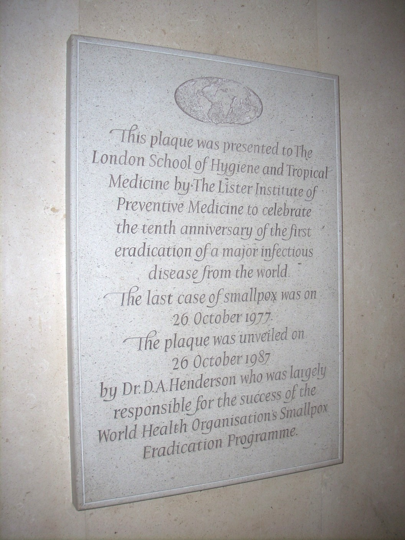 Smallpox eradication' memorial tablet - Himetop