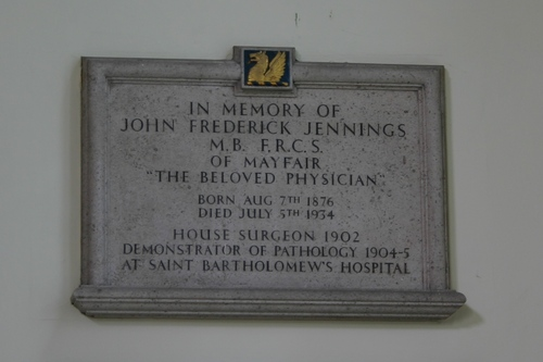 John%20Frederick%20Jennings%27%20memorial%20tablet%2C%20St%20Bartholomew%27s%20Hospital%2C%20London%20-%2002.JPG