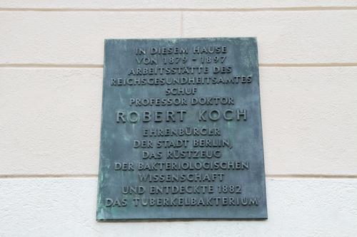 Koch%27s%20bacillus%20discovery%20memorial%20plaque%2C%20Salomon%20Neumann-Haus%2C%20Berlin.JPG